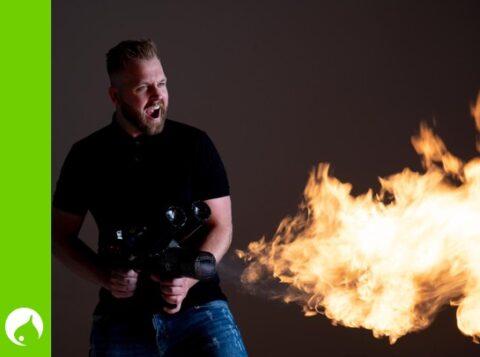 Pyrotechnieker en showcreator Jorben van der Borg